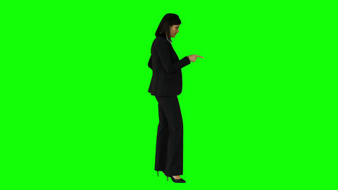 Businesswoman wagging her finger Footage