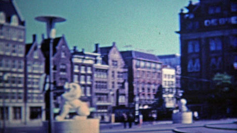 1969: Double decker tour bus view is a popular attraction to see the city Footage