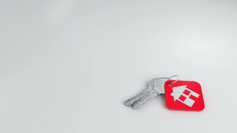 House keys falling + matte Animation