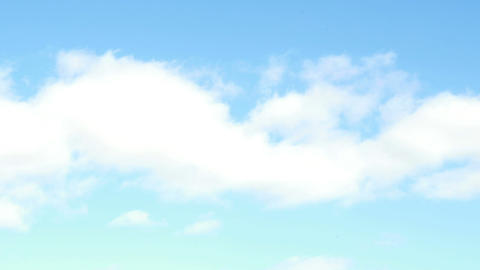 A sunny blue sky with clouds Footage