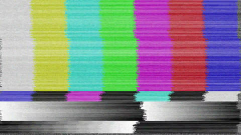 Television static screen Animation