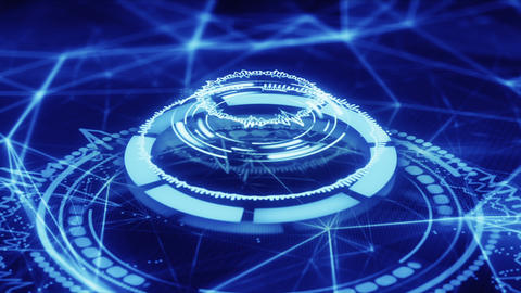 blue futuristic circle shape abstract loopable animation Animation