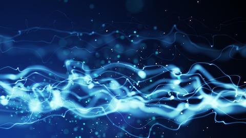 energy blue flow seamless loop 4k (4096x2304) Animation