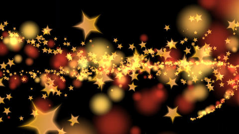Hot Particle Spurt - Gold Stars And Red Drops - 02 - 4K stock footage
