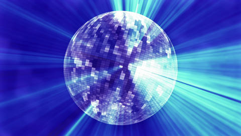 CG funky disco mirror ball with light rays V1 Animation