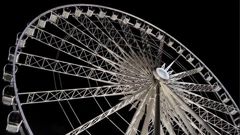 Ferris Wheel - Amusement Park stock footage