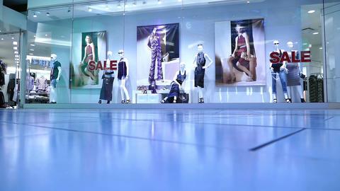 Mall People - 02 - Colorful Sale Vitrine stock footage