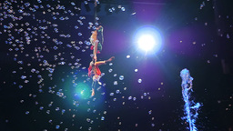 Children dancing in the air during fairy-tale performance Footage