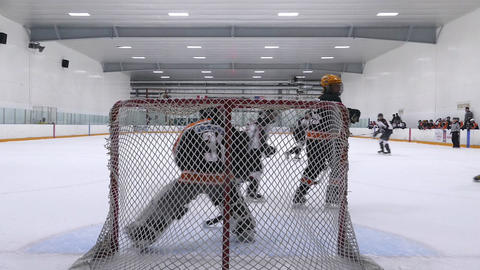Ice Hockey Match - Teen Boys - 01 stock footage