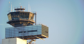 Airport traffic control tower Footage