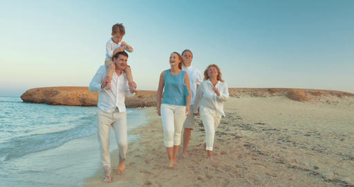 Happy moments of summer family vacation Footage