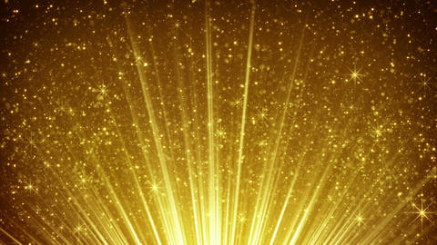 rising gold particles in light rays loopable 4k (4096x2304) Animation