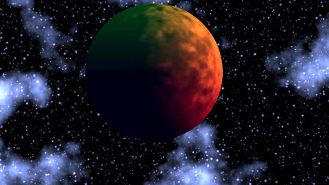 Planet in depths of space Stock Video Footage