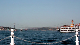 BOSPHORUS CHANNEL BETWEEN CONTINENTS Stock Video Footage