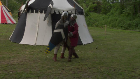 medieval fighting 01 Stock Video Footage