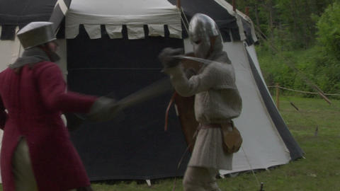 medieval fighting 03 Stock Video Footage