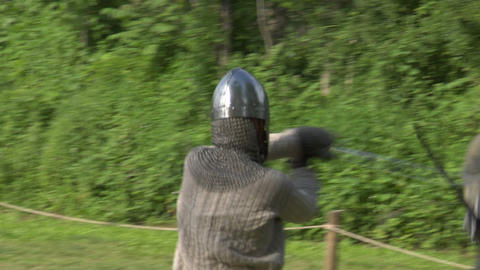 medieval fighting 05 Stock Video Footage