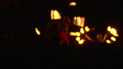 medieval fire show 01 Stock Video Footage