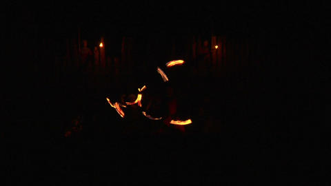 medieval fire show 05 Stock Video Footage