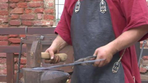 medieval village 03 Stock Video Footage