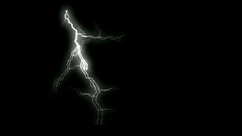white lightning.Negative oxygen... Stock Video Footage