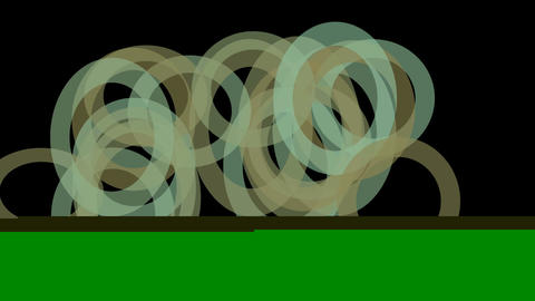 abstract green circle round pattern slowly... Stock Video Footage