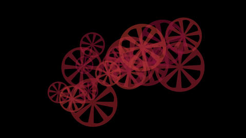 rotating red gears or wheel... Stock Video Footage