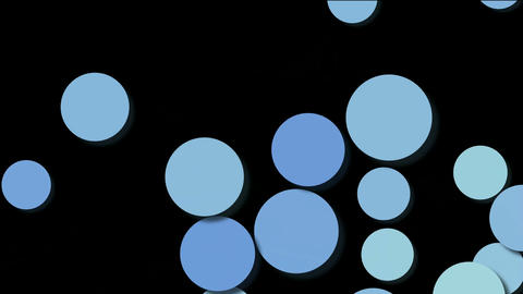 slowly moving blue ball,circle... Stock Video Footage
