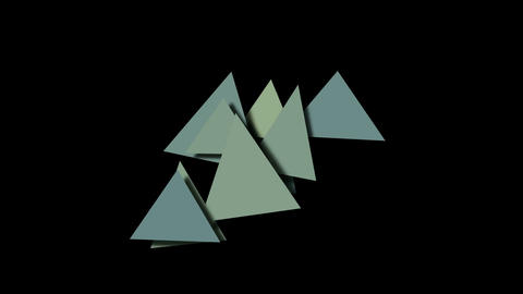 abstract triangles pattern slowly... Stock Video Footage