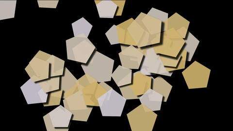 Beige pentagons... Stock Video Footage