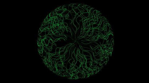 choas green aquatic and fiber shaped circle hole,antenna Stock Video Footage