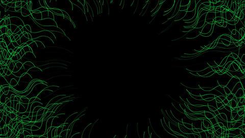 choas green aquatic and fiber shaped circle hole,antenna Animation