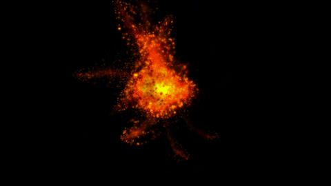 red particle and fire in the cosmos,flare firefly and magma,galaxy Animation