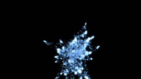 Explosion of blue water drop,splash liquid,bubbles going... Stock Video Footage