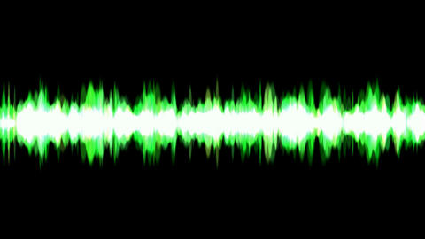 green ray light background,voice noise rhythm.Frequency,acoustic,vibration,sound,recording,vj,beauti Animation
