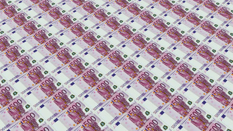 500 euro bills,Printing Money Animation Stock Video Footage