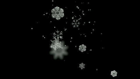 Snowflake falling,Santa... Stock Video Footage