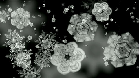 Snowflake falling,Santa... Stock Video Footage