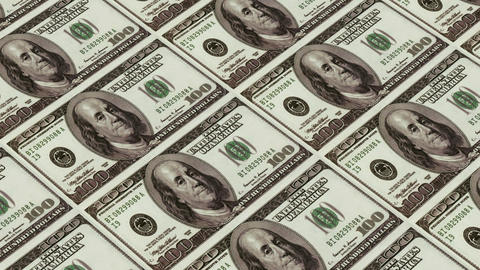 100 dollar bills,Printing Money Animation Stock Video Footage