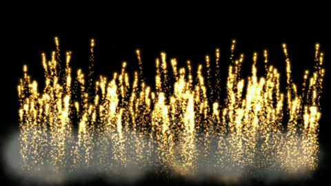 Golden Fireworks and smoke.Military,arms,war,signal flare,signal,festivals,celebrations,Holiday,wedd Animation