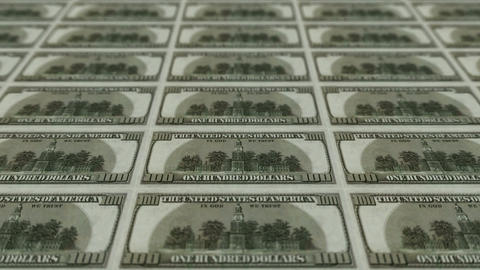 back of 100 dollar bills,Printing Money Animation Stock Video Footage