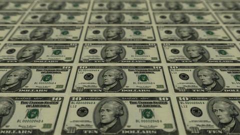 10 dollar bills,Printing Money Animation Stock Video Footage
