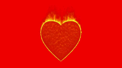 burning heart,valentine's day energy heart Animation