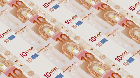 10 euro bills,Printing Money Animation Stock Video Footage