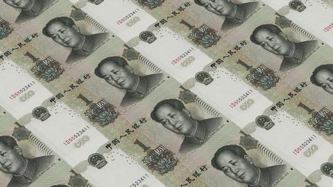 Printing Money Animation,1 RMB bills Stock Video Footage