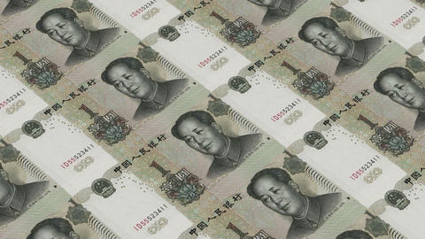 Printing Money Animation,1 RMB bills Animation