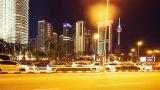 Kuala Lumpur at night, timelapse in motion Footage