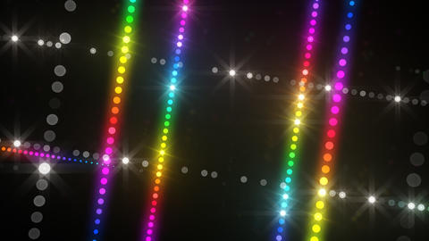 Neon LED Dot9 A3a HD Stock Video Footage