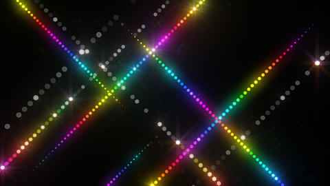 Neon LED Dot9 A3c HD Stock Video Footage