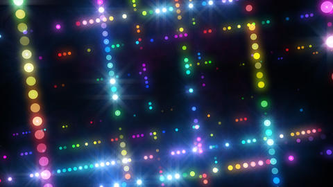 Neon LED Dot9 A4a HD Stock Video Footage
